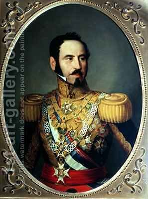 General Baldomero Espartero 1792-1879 by Antonio Maria Esquivel Suarez de Urbina - Reproduction Oil Painting