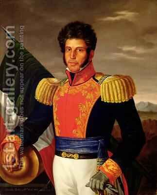 Vicente Guerrero 1783-1831 by Anacleto Escutia - Reproduction Oil Painting