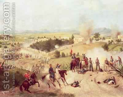 The Battle of Molino del Rey by C. Escalante - Reproduction Oil Painting