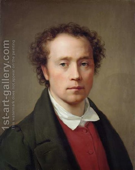 Self Portrait by August von der Embde - Reproduction Oil Painting