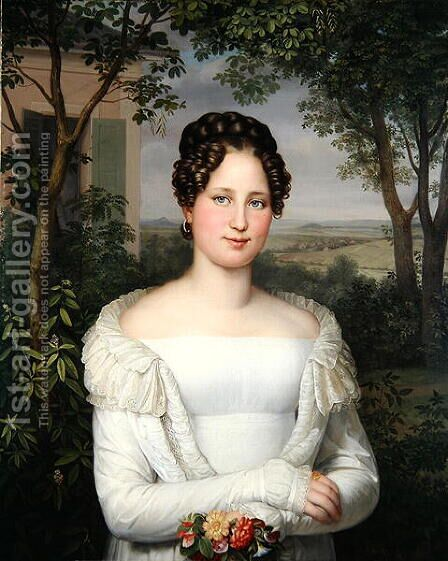 Portrait of Frau Horstmann by August von der Embde - Reproduction Oil Painting