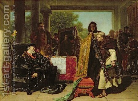 Emperor Charles V 1500-58 at the Convent of Yuste by Alfred Elmore - Reproduction Oil Painting