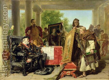Charles V 1500-58 at the Monastery of Yuste by Alfred Elmore - Reproduction Oil Painting