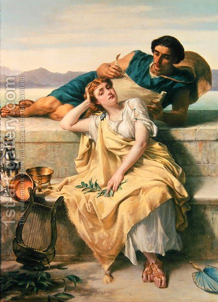 A Greek Ode by Alfred Elmore - Reproduction Oil Painting