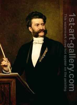 Johann Strauss the Younger by August Eisenmenger - Reproduction Oil Painting