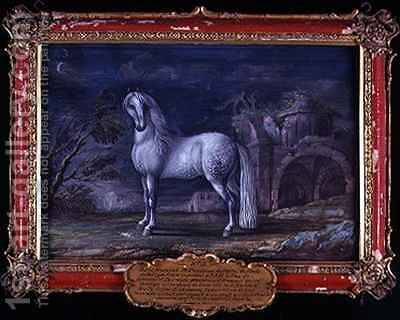 No 3 Superbe a German dappled grey horse from the Spanish Riding School who was famous for his piaffe by Baron Reis d' Eisenberg - Reproduction Oil Painting