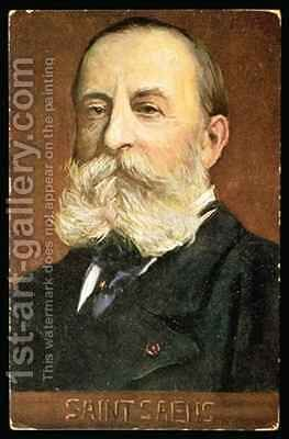 Portrait of Camille Saint Saens French composer by Albert Eichhorn - Reproduction Oil Painting