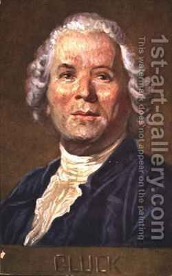 Portrait of Christoph Willibald Von Gluck 1714-1787 German opera composer by Albert Eichhorn - Reproduction Oil Painting
