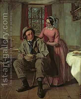 Dickens in the character of Sir Charles Coldstream by Augustus Leopold Egg - Reproduction Oil Painting