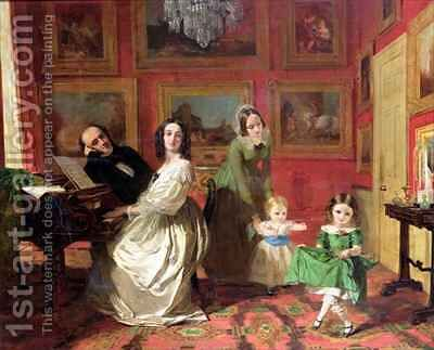 The Rev and Mrs Palmer Lovell with their daughters Georgina and Christina by Augustus Leopold Egg - Reproduction Oil Painting
