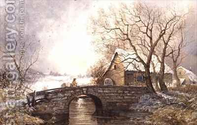 Old Mill Derbyshire by James Edwards - Reproduction Oil Painting