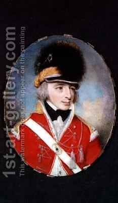 Miniature of an unknown officer by Henry Edridge - Reproduction Oil Painting