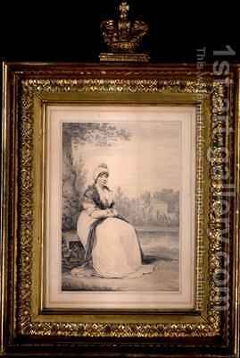 Queen Charlotte by Henry Edridge - Reproduction Oil Painting