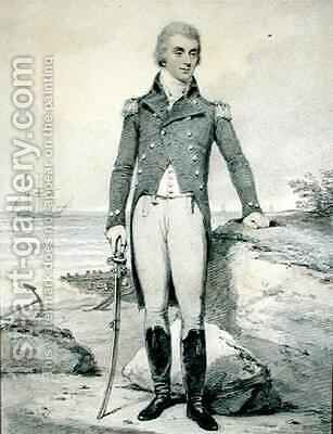 Thomas Wells 1759-1811 Vice Admiral of the Red by Henry Edridge - Reproduction Oil Painting