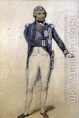 Horatio Nelson 1758-1805 by Henry Edridge - Reproduction Oil Painting