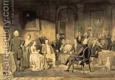 Robert Burns 1759-96 at Lord Monboddos 1714-99 Party by James Edgar - Reproduction Oil Painting
