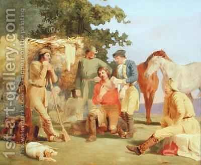 Scouts in the French and Indian Wars by Charles Herbert Eastlake - Reproduction Oil Painting