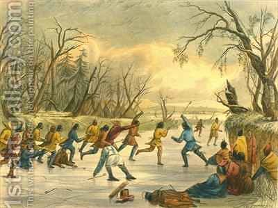 Ball Play on the Ice 2 by (after) Eastman, Captain Seth - Reproduction Oil Painting