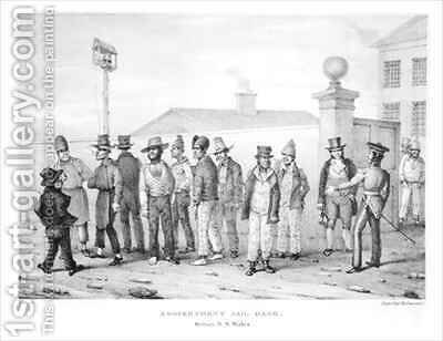 A Government Jail Gang Sydney New South Wales by Augustus Earle - Reproduction Oil Painting