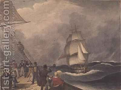 Speaking a vessel off the Cape of Good Hope by Augustus Earle - Reproduction Oil Painting