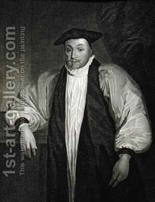 Portrait of William Laud 1573-1645 from Lodges British Portraits by (after) Dyck, Sir Anthony van - Reproduction Oil Painting