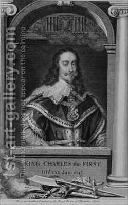 Charles I 1600-49 King of Great Britain and Ireland from 1625 by (after) Dyck, Sir Anthony van - Reproduction Oil Painting