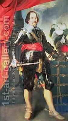 Portrait of a Gentleman in Armour by (after) Dyck, Sir Anthony van - Reproduction Oil Painting
