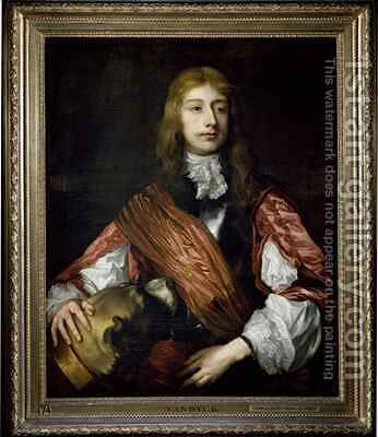 Thomas Killigrew and his dog by (after) Dyck, Sir Anthony van - Reproduction Oil Painting