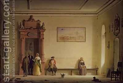 The Waiting Room by Hermann Dyck - Reproduction Oil Painting