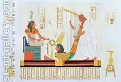Decoration from the Room of the Harps East Tomb Byban el Molouk Thebes from Descriptions of Egypt by (after) Dutertre, Andre - Reproduction Oil Painting
