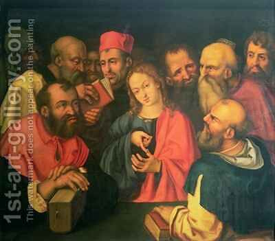 Christ aged twelve among the scribes by (after) Durer or Duerer, Albrecht - Reproduction Oil Painting