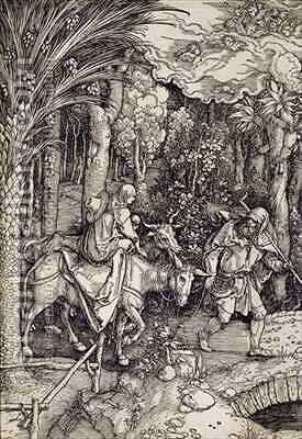 The Flight into Egypt by (after) Durer or Duerer, Albrecht - Reproduction Oil Painting