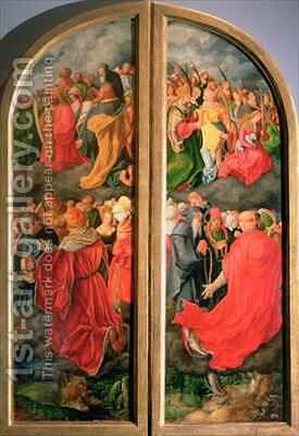 All Saints Day altarpiece by (after) Durer or Duerer, Albrecht - Reproduction Oil Painting