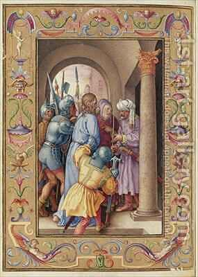 Ms 39 1601 The Arrest of Christ from Passio Domini Nostri Jesu Christi Secundum Joannem by (after) Durer or Duerer, Albrecht - Reproduction Oil Painting