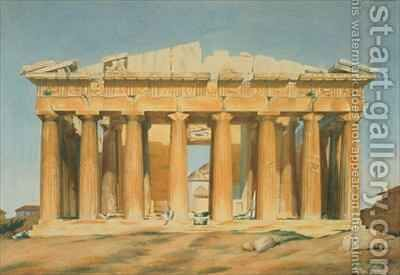 The Parthenon Athens by (after) Dupre, Louis - Reproduction Oil Painting