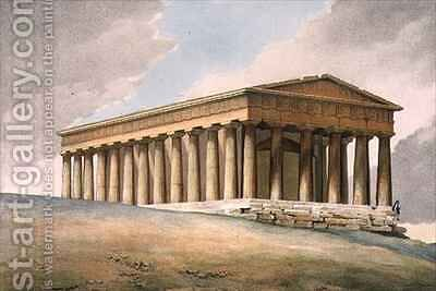 The Temple of Theseus in Athens by (after) Dupre, Louis - Reproduction Oil Painting