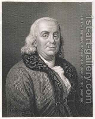 Portrait of Benjamin Franklin by (after) Duplessis, Joseph-Siffrede - Reproduction Oil Painting