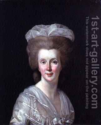 Portrait of Madame Necker 1739-94 by (after) Duplessis, Joseph-Siffrede - Reproduction Oil Painting