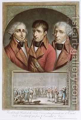 Portrait of the Three Consuls of the Republic and Barthelemy Presenting the Consitutional Act Proclaiming Napoleon I as Emperor for Life to the Premier Consul by (after) Duplessis-Bertaux, Jean - Reproduction Oil Painting