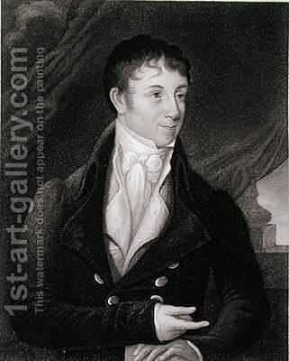 Portrait of Charles Brockden Brown 1771-1810 by (after) Dunlap, William - Reproduction Oil Painting