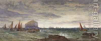 The Bass Rock at Dawn by Edward Duncan - Reproduction Oil Painting