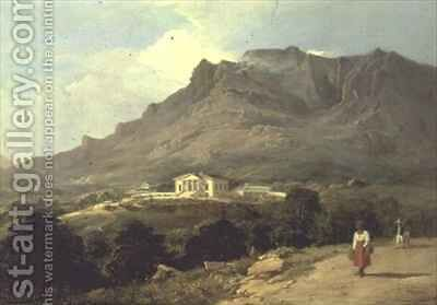 Landscape at Mowbray The Cape of Good Hope by Edward Duncan - Reproduction Oil Painting