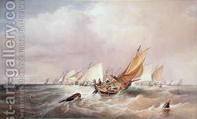 Off the French Coast by Edward Duncan - Reproduction Oil Painting