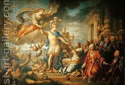 Allegory of the Peace of Aix la Chapelle by Jacques (Le Romain) Dumont - Reproduction Oil Painting