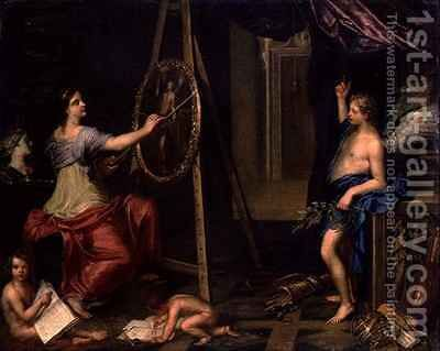 Allegory of Painting by Charles Alphonse Dufresnoy - Reproduction Oil Painting