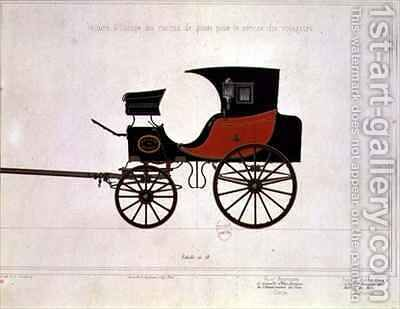 Design of a carriage for the Postal Service by (after) Ducoudray, A. G. - Reproduction Oil Painting