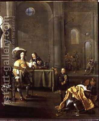 The Celebration of the liberation of a cathedral by the Dutch Militia by Jacob Duck - Reproduction Oil Painting