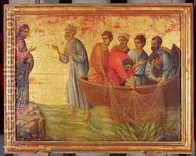 The Apparition on the Lake of Tiberiade by Buoninsegna Duccio di - Reproduction Oil Painting