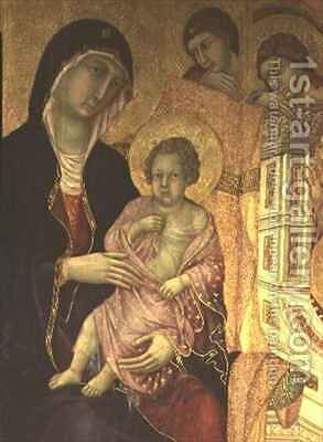 Maesta Madonna and Child by Buoninsegna Duccio di - Reproduction Oil Painting