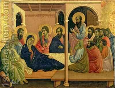 Maesta The Virgin Taking Leave of the Disciples by Buoninsegna Duccio di - Reproduction Oil Painting